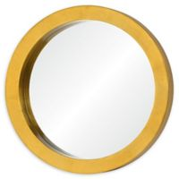 Varaluz Casa Ringleader 23.5-Inch Round Mirror in Gold Leaf