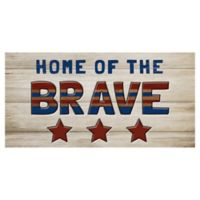 Masterpiece Art Gallery Home of the Brave 17-Inch x 34-Inch Canvas Wall Art