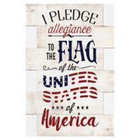 Masterpiece Art Gallery Pledge of Allegiance 36-Inch x 24-Inch Canvas Wall Art