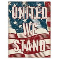 Masterpiece Art Gallery Flag United We Stand 40-Inch x 30-Inch Canvas Wall Art