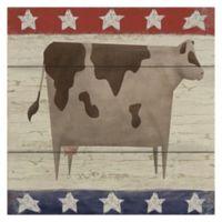Masterpiece Art Gallery Americana Cow 24-Inch x 24-Inch Canvas Wall Art