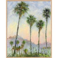 Palms 23-Inch x 29-Inch Framed Canvas in Green