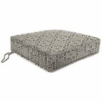 Print Tapered Boxed Chair cushion in Sunbrella® Ayathena Pewter