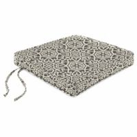 Print Boxed Chair Cushion in Sunbrella® Ayathena Pewter