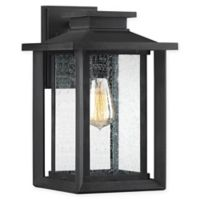 Quiozel Wakefield 14-Inch 1-Light Wall-Mount Outdoor Wall Lantern in Earth Black