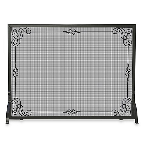 buy uniflame s 1025 44 inch black wrought iron fireplace