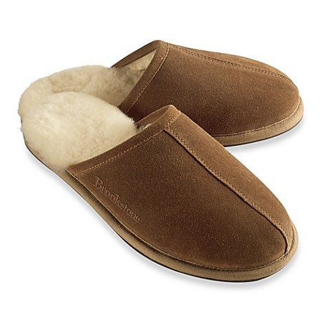 Brookstone® Men's Shearling Slippers - Medium