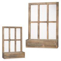 Wooden Window Box Planters (Set of 2)