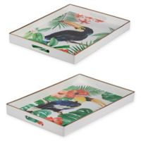 A&B Home Organic Elements Modern Trays (Set of 2)