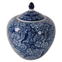 A&B Home Aline 9.8-Inch Ceramic Ginger Jar