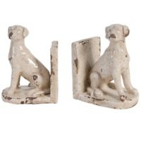 A&B Home 2-Piece Porter Ceramic Dog Bookend Set