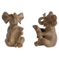 A&B Home 2-Piece Resin Elephant Bookend Set