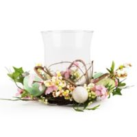 Home Essentials & Beyond 8-Inch Easter Hurricane Candle Holder Centerpiece