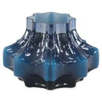 Ridge Road Faceted Glass Vase in Blue/Black