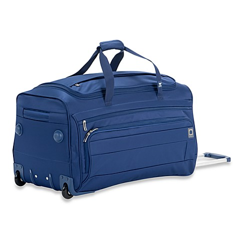 DELSEY Helium Superlite Spinners Trolley Two-Wheel Duffel in Blue