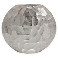 Sagebrook Home Flat 10.5-Inch Metal Vase in Silver