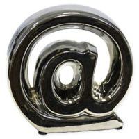 Sagebrook Home 5.5-Inch Ceramic Symbol in Silver
