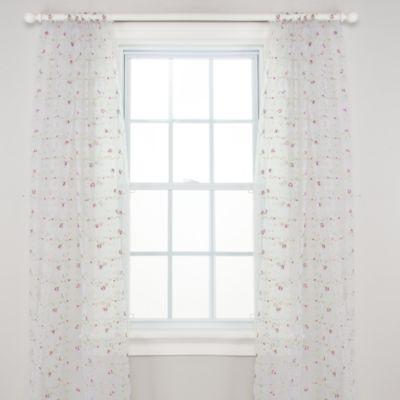 glenna jean penelope sheer 100inch window panels set of 2 - Window Sheers