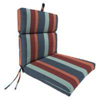 Stripe 44-Inch x 22-Inch Dining Chair Cushion in Sunbrella® Gateway Fuse Blue/Multi