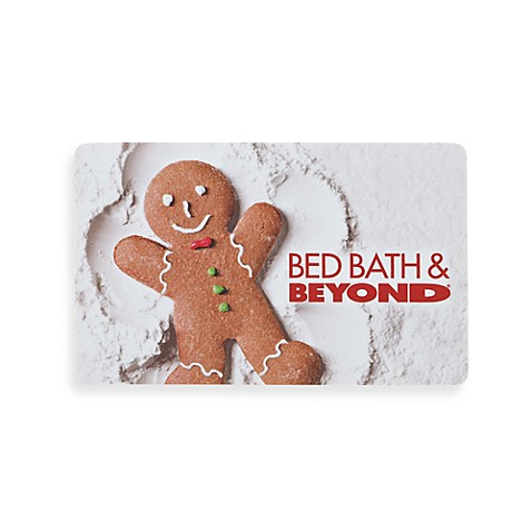 bedbathandbeyond gift card gingerbread man gift card www bedbathandbeyond com 3395