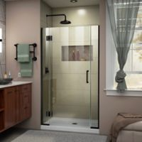 DreamLine Unidoor-X 37-37.5-Inch Frameless Hinged Shower Door in Satin Black