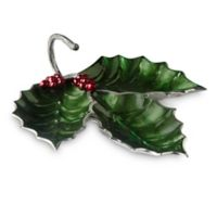 Julia Knight® Holly Sprig 3-Part Divided Server in Emerald