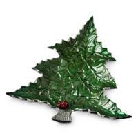 Julia Knight® Holly Sprig 16-Inch Tree Platter in Emerald