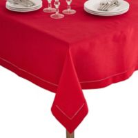 Saro Lifestyle Rochester 84-Inch Square Tablecloth in Red
