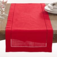 Saro Lifestyle Rochester 90-Inch Table Runner in Red