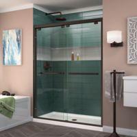 "DreamLine Encore 56-60"" W x 76"" H Semi-Frameless Bypass Shower Door in Oil Rubbed Bronze"