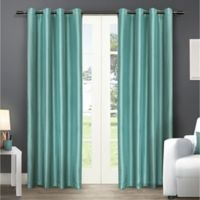 Exclusive Home Chatra 96-Inch Grommet Top Window Curtain Panel Pair in Teal