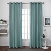 Exclusive Home Chatra 96-Inch Grommet Top Window Curtain Panel Pair in Seafoam