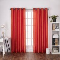 Chatra 108-Inch Grommet Top Window Curtain Panel Pair in Orange Crush