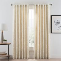 Acanthus Rod Pocket/Back Tab Room Darkening 95-Inch Window Curtain Panel in Ivory