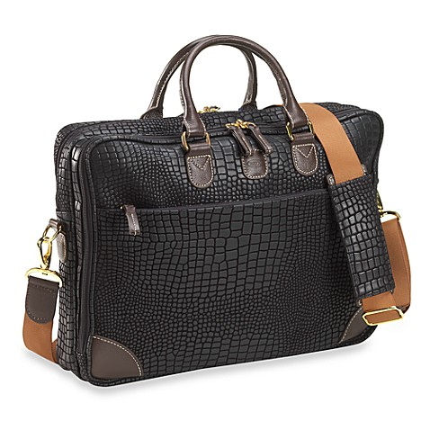 Bric's Nuovo Computer Attache in Black Croc