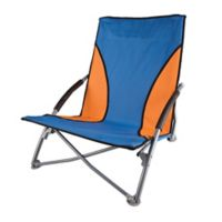 Stansport® Low-Profile Folding Chair in Blue/Orange