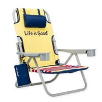 Life is Good® Folding Beach Chair with Cooler in Daisy Yellow