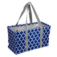Quatrefoil Picnic Caddy Tote in Royal Blue