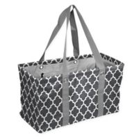 Quatrefoil Picnic Caddy Tote in Charcoal