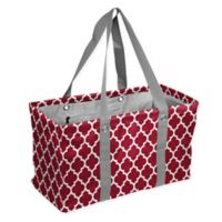 Quatrefoil Picnic Caddy Tote in Cardinal Red