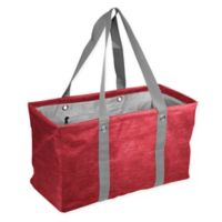 Crosshatch Picnic Caddy in Red
