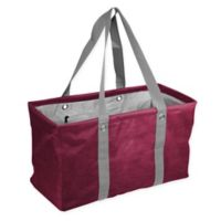 Crosshatch Picnic Caddy in Maroon