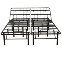 Classic Brands Hercules Full Heavy-Duty Metal Adjustable Metal Bed Frame in Black