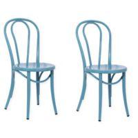 ACEssentials Ellie Bistro Chair in Teal (Set of 2)