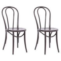 ACEssentials Ellie Bistro Chair in Brown (Set of 2)