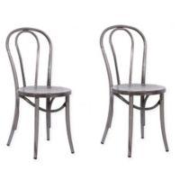 ACEssentials Ellie Bistro Chair in Grey (Set of 2)
