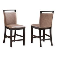 King's Brand Aloe Bar Stools in Chocolate (Set of 2)