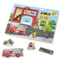 Melissa & Doug® 8-Piece Around the Fire Station Sound Puzzle