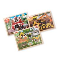 Melissa & Doug® 3-Pack Classic Wooden Jigsaw Puzzles