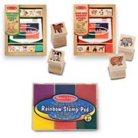 Melissa & Doug® Baby Zoo & Farm Animals with 6 Color Stamp Pad Set